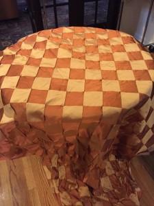 Taffeta Rust Checkerboard